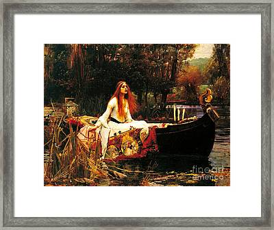 The Lady Of The Shalot Framed Print by Pg Reproductions