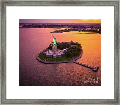 The Lady On The Island Framed Print by Inge Johnsson