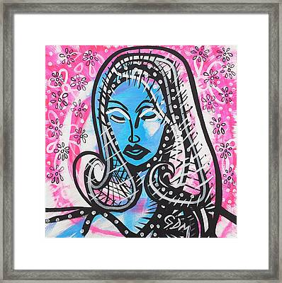 The Lady Waits Framed Print by Gdm