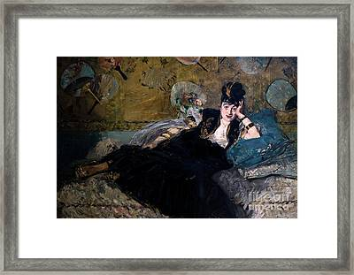 The Lady With Fans, La Dame Aux Eventails, By Edouard Manet, 187 Framed Print