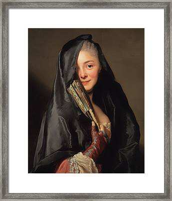 The Lady With The Veil - The Artist's Wife Framed Print