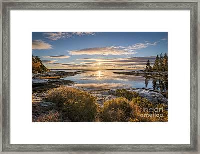 The Lagoon At Reid Framed Print by Benjamin Williamson