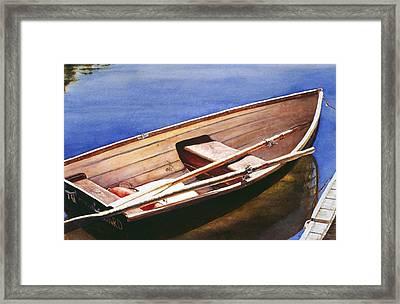 The Lake Boat Framed Print