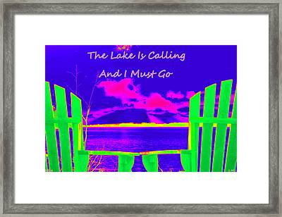 The Lake Is Calling And I Must Go Framed Print