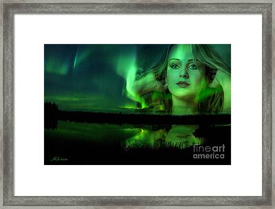 The Lake Is Her Mirror Framed Print