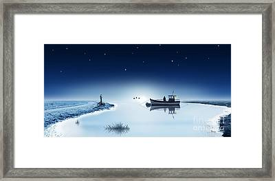 The Lake Is Sleeping In The Wintertime Framed Print