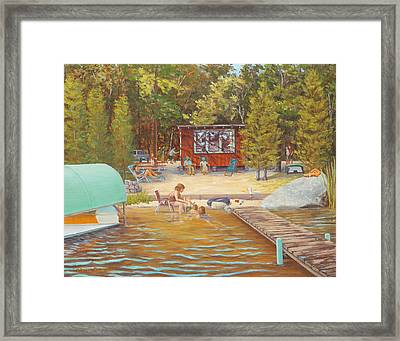 The Lake, Pascoug, Ri Framed Print by Elaine Farmer