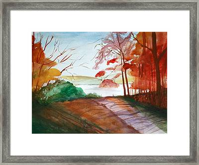 The Lake Road Framed Print by Julie Lueders