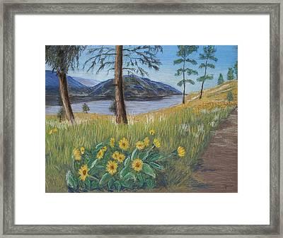 The Lake Trail Framed Print by Marina Garrison