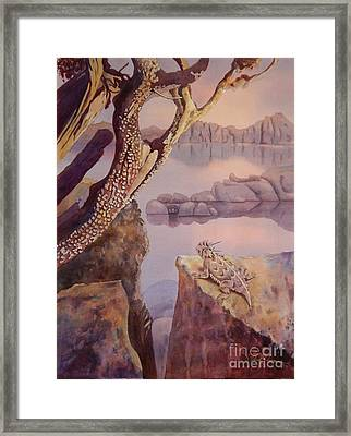 The Lake Watcher Framed Print