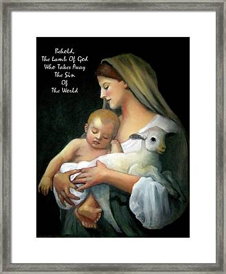 The Lamb Of God Framed Print by Joyce Geleynse
