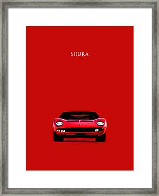 The Lamborghini Miura Framed Print by Mark Rogan