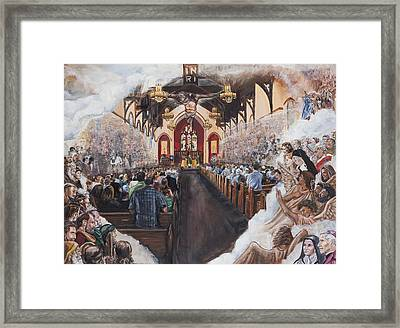 The Lamb's Supper Framed Print