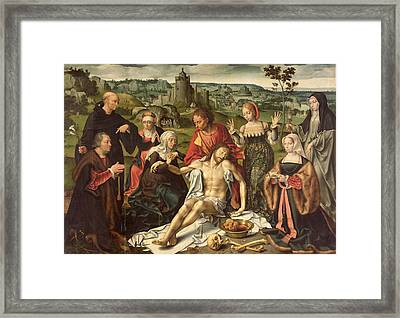 The Lamentation Of Christ Framed Print by Joos van Cleve