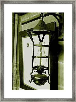 Framed Print featuring the photograph The Lamp by Jez C Self
