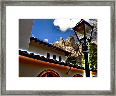 The Lamp Post Framed Print by Francisco Colon