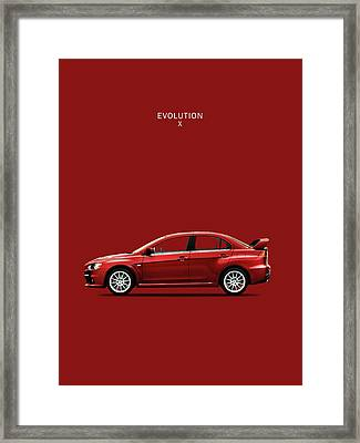 The Lancer Evolution X Framed Print