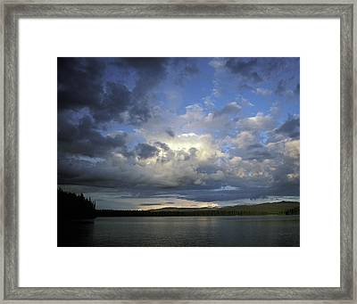 The Land Of Loon Framed Print by Charlie Osborn