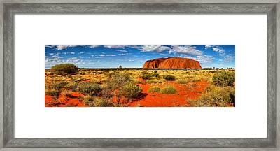The Land Of Red Light Framed Print