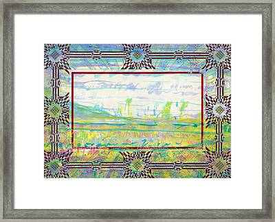 The Land Of The Dyamids Framed Print by Tom Hefko