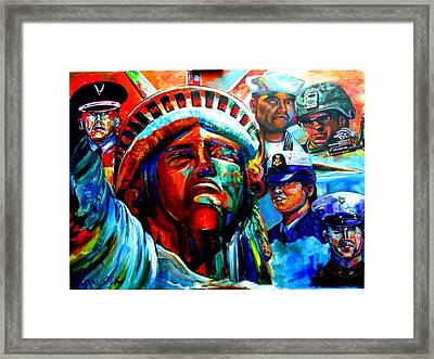The Land Of The Free  Framed Print