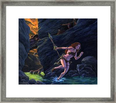 The Land That Time Forgot Framed Print by Richard Hescox