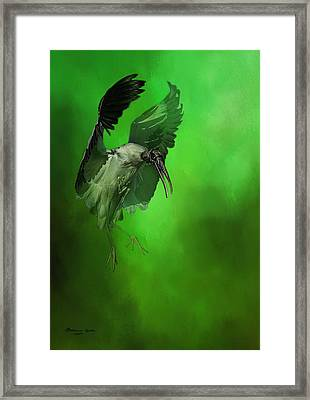 The Landing Framed Print by Marvin Spates