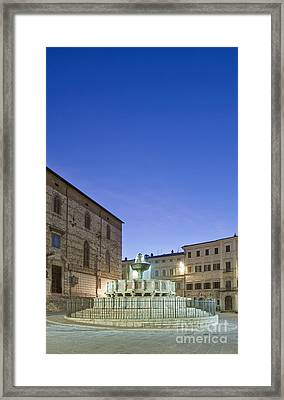 The Landmark Fontana Maggiore Framed Print