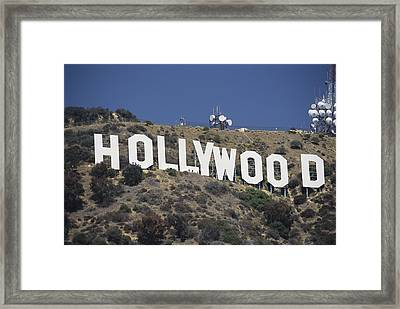 The Landmark Hollywood Sign Framed Print by Richard Nowitz