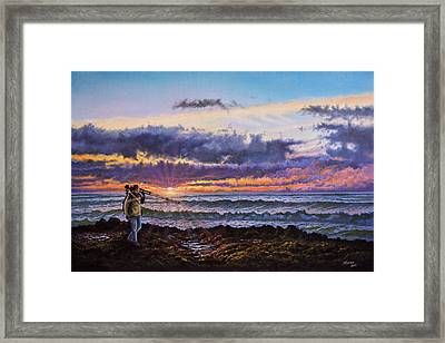 The Landscape Photographer Framed Print by C Steele