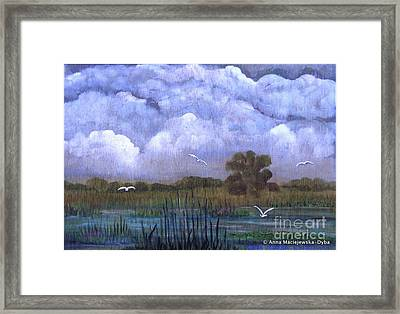 The Landscape With The Clouds Framed Print