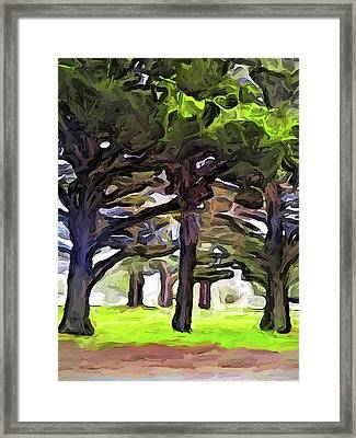 The Landscape With The Leaning Trees Framed Print