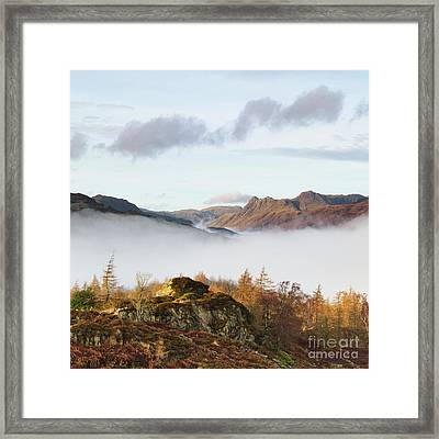 The Langdale Pikes From Holme Fell Framed Print