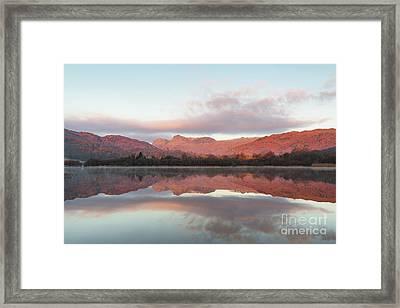 The Langdales Reflected In Elterwater Framed Print