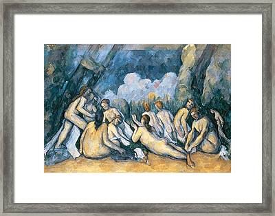 The Large Bathers Framed Print by Paul Cezanne