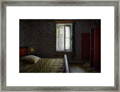 The Last Bed Time Story - Urbex Abandoned Buildings Framed Print by Dirk Ercken