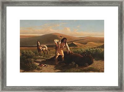 The Last Buffalo Framed Print