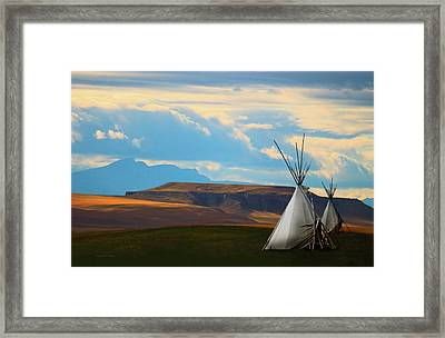 The Last Camp Framed Print by Ron Jones