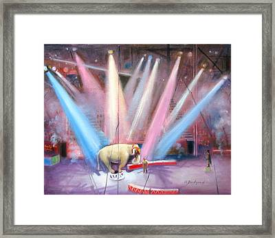Framed Print featuring the painting The Last Circus Elephant by Oz Freedgood