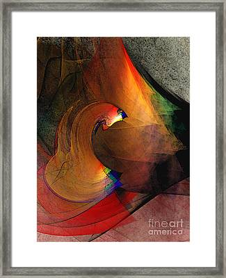 The Last Curtain Framed Print by Karin Kuhlmann