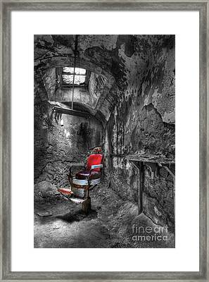 The Last Cut- Barber Chair - Eastern State Penitentiary Framed Print by Lee Dos Santos