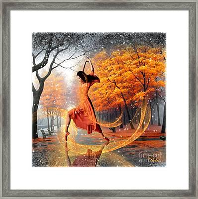 The Last Dance Of Autumn - Fantasy Art  Framed Print