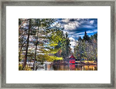 The Last Days Of Autumn At The Boathouse Framed Print by David Patterson