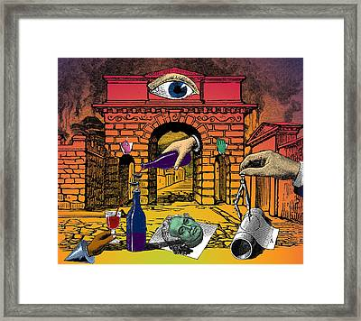 The Last Days Of Herculaneum Framed Print by Eric Edelman