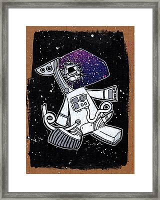 The Last Dog In Space Framed Print
