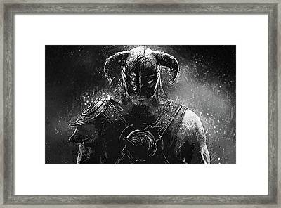 The Last Dragonborn - Skyrim Framed Print