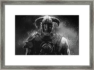 The Last Dragonborn - Skyrim Framed Print by Taylan Apukovska