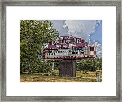 The Last Drive In Picture Show Framed Print