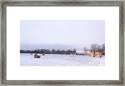 The Last Farm... Framed Print