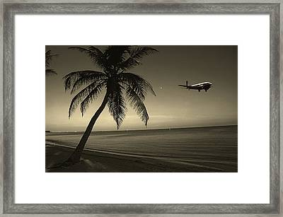 The Last Flight Out Framed Print by Susanne Van Hulst